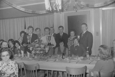 Viering schutterskampioen café Freya, Moorslede december 1972