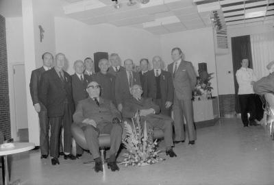 Viering 50 jaar duivenmaatschappij: De verenigde liefhebbers, Moorslede december 1972