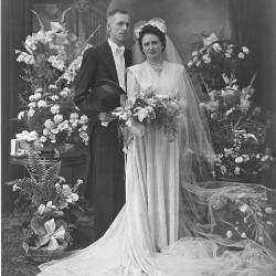 Huwelijksfoto Alex Carlier en Lia Vandenbroucke