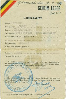 Remi Ricart, Ingelmunster, 1944