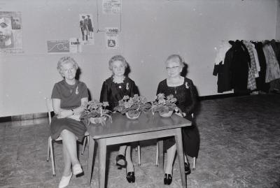 Huldiging 3 dames CMBV, Moorslede december 1971