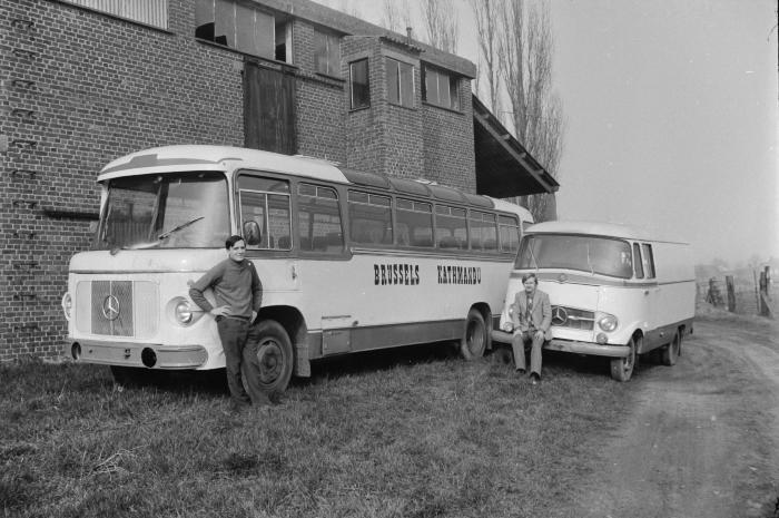Autobus van Ludo Hammeeuw, Moorslede maart 1972