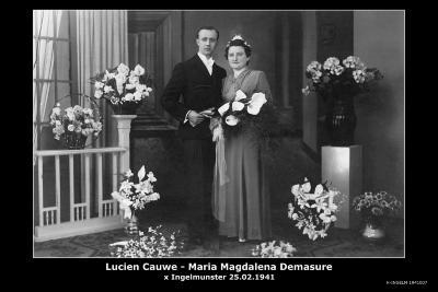 CAUWE Lucien en DEMASURE Maria Magdalena, Ingelmunster, 1941