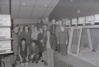 Vogeltentoonstelling café Breughel, Moorslede december 1973