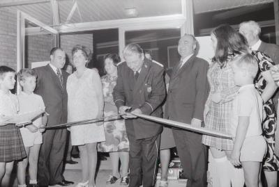 Opening winkel Stagaco, Staden 6 augustus 1971