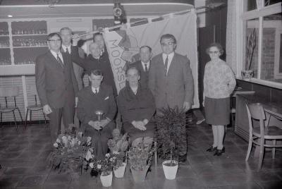 Huldiging kaartkampioen K.W.B., Moorslede 1971
