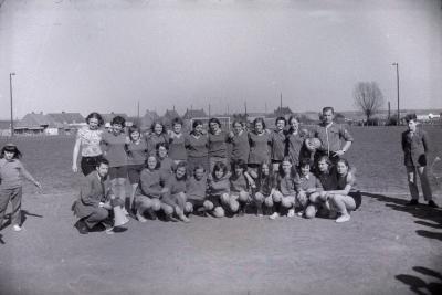 Voetbalploeg meisjes, Moorslede september 1971