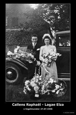 Callens Raphaël en Lagae Elza, Ingelmunster, 1946
