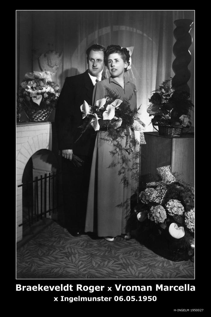 Braeckeveldt Roger en Vroman Marcella, Ingelmunster, 1950