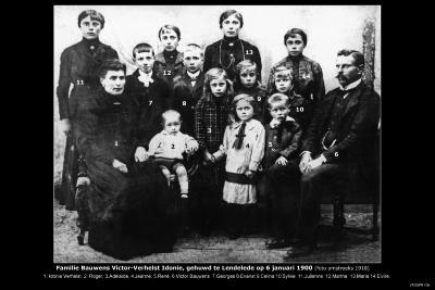 Familie Bauwens Victor en Verhelst Idonie, Lendelede, +/- 1918