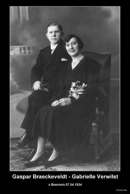 BRAECKEVELDT Gaspar en VERWILST Gabrielle,  Beernem, 1934