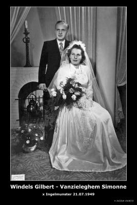 Windels Gilbert en Vanzieleghem Simone, Ingelmunster,1949