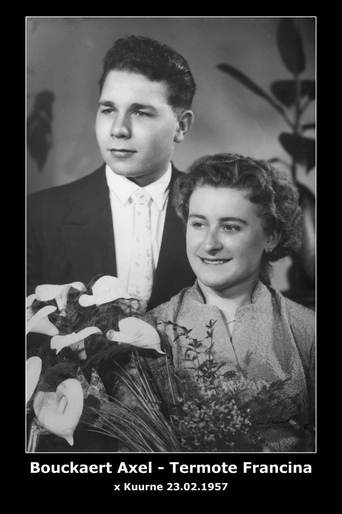 Bouckaert Axel Jan en Termote Francina Jacqueline,  Kuurne, 1957