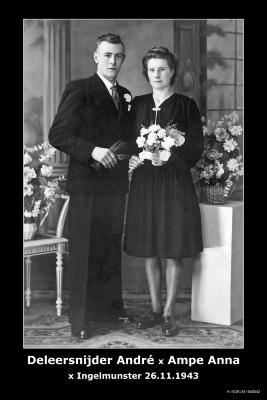 Deleersnijder André en Ampe Anna, Ingelmunster, 1943