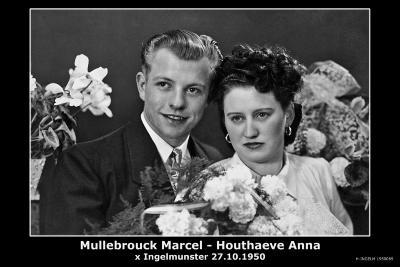 Houthaeve Anna en Mullebrouck Marcel, Ingelmunster, 1950