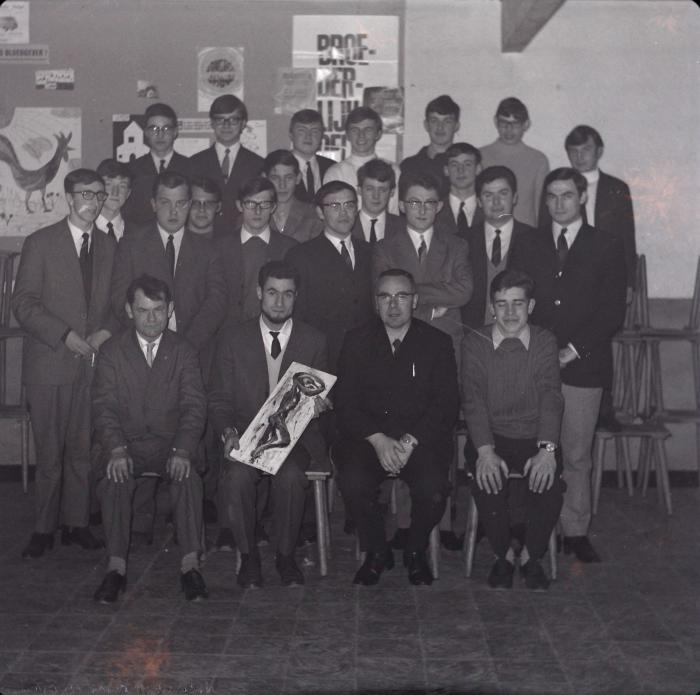 Afscheid van chiroleider W. Nys, Moorslede 1969