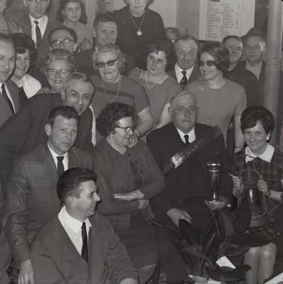 Viering kampioen kaarten, Roeselare 1969