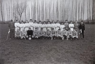 Groepsfoto voetbalspelers, 1970