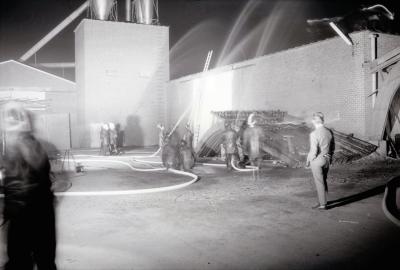Nachtoefening brandweer, Moorslede 1970