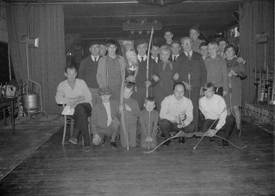 Huldiging Schutterskoning bij St.-Sebastiaansgilde, Moorslede 1970