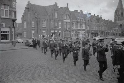 Wandelconcert op markt, 7-11 november Moorslede 1970