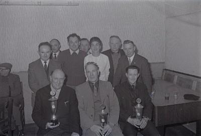 Huldiging duivenkampioen Callens, Moorslede 1970