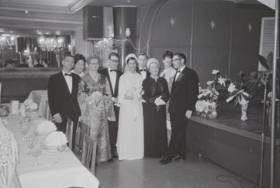Fotoreportage van een huwelijk, Moorslede 1969