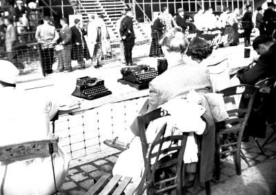 Wereldkampioenschap wielrennen: perstribune, Moorslede 1950
