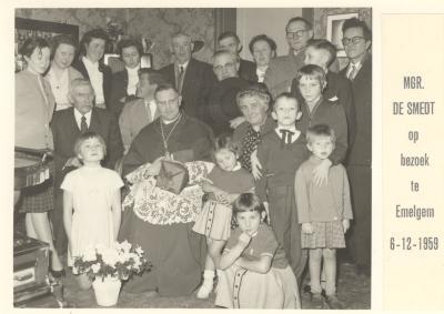 Mgr De Smedt in Emelgem, 1959