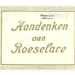 Schilderijen, aandenken aan Roeselare