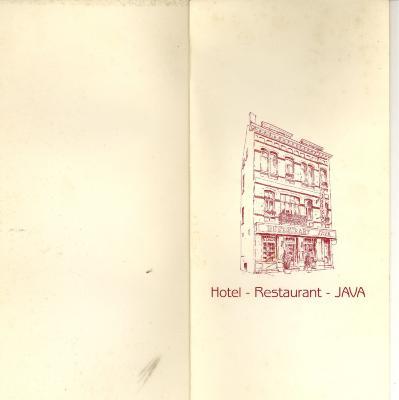 Menukaart eindejaarsfeesten restaurant Java Roeselare