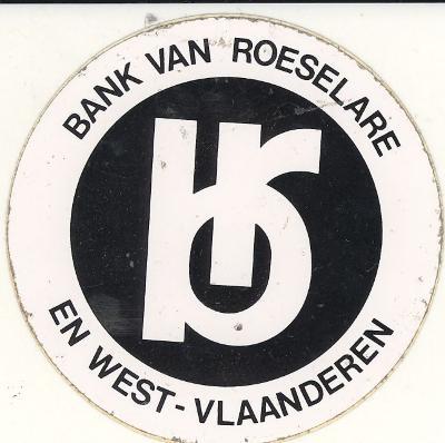 Sticker Bank van Roeselare en West-Vlaanderen