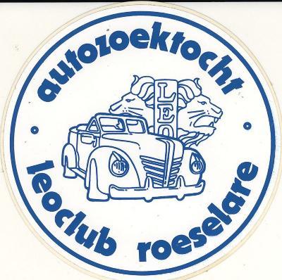 Sticker autozoektocht Leoclub Roeselare