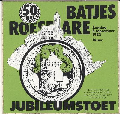 Sticker Roeselaarse Batjesstoet in 1982