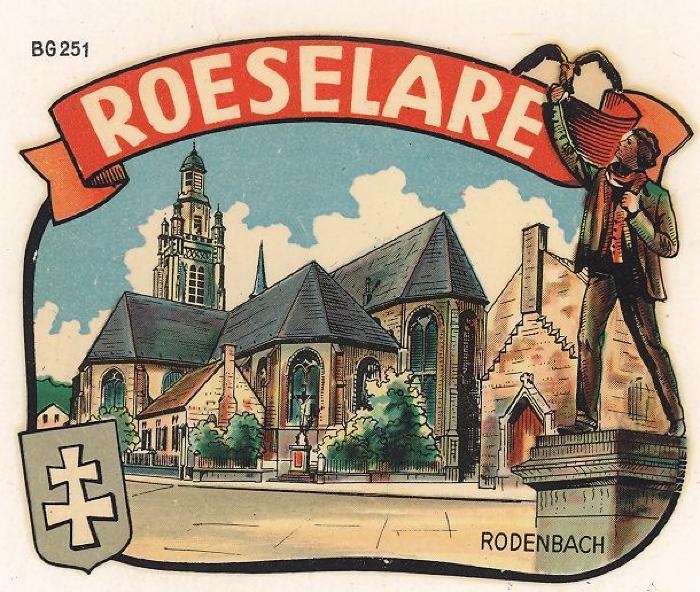 Sticker van de stad Roeselare
