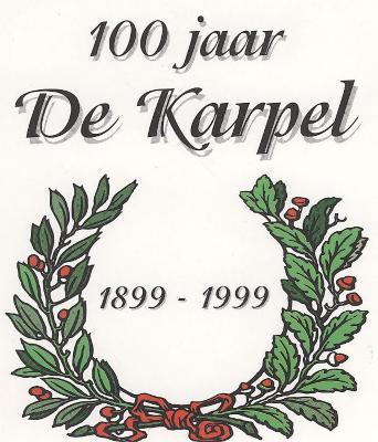 Sticker, uitgegeven bij gelegenheid van het 100 jarig bestaan van café De Karpel