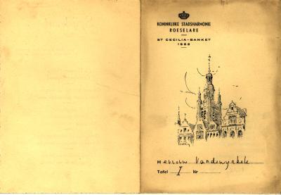 St Cecilia - banket van de Koninklijke Stadsharmonie Roeselare  door de jaren heen Deel 1