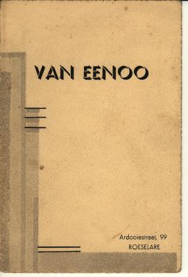 Promotiemateriaal fotograaf Van Eenoo