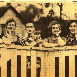 De 6 finalisten Batjesprinses 1974