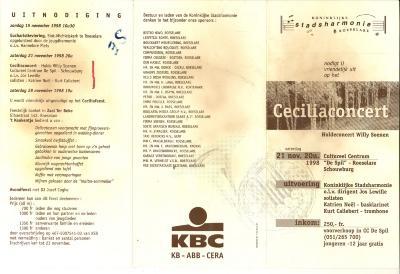 Koninklijke stadsharmonie Roeselare, Cecilia concert 1998 (huldeconcert Willy Soenen)