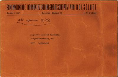 Briefomslagen door de jaren heen uit Roeselare (deel1)