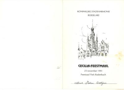 Koninklijke stadsharmonie Roeselare, Ceciliamaaltijd 1991