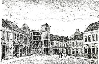 Kinderen in straat Stationsplein, Roeselare