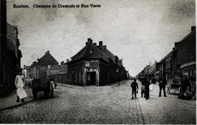 Hoek Diksmuidsesteenweg en Groenestraat, Roeselare