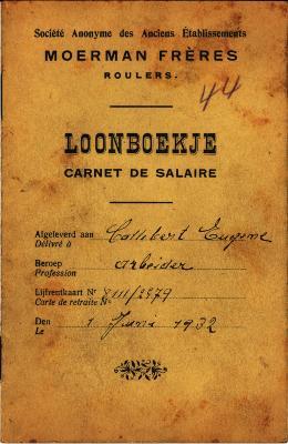 Loonboekje van SA Moerman Frères,1932,  Roeselare