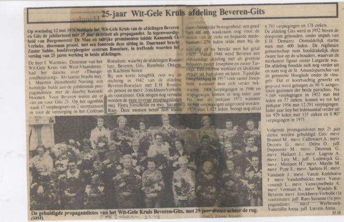 25 jaar Wit-Gele Kruis