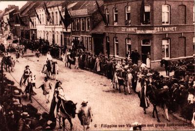 Albrecht Rodenbachfeesten, Roeselare, 22 augustus 1909