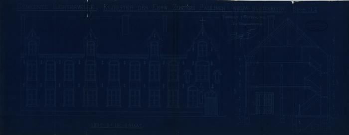 Plan Klooster der Eerw. Zusters Paulinen Nieuw slotgebouw in Lichtervelde, Torhout, 2 september 1910