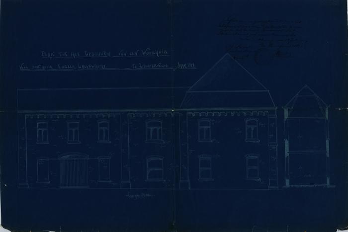 Plan tot het opbouwen van een woonhuis voor de Heer Eugeer Callewaert, Lichtervelde, 1919