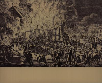 Pentekeningen brand in Amsterdam, 17e eeuw